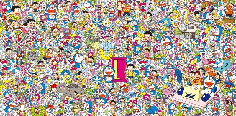 村上隆 出展作品 「あんなこといいな 出来たらいいな」 (C)2017 Takashi Murakami/Kaikai Kiki Co., Ltd. All Rights Reserved. (C)Fujiko-Pro