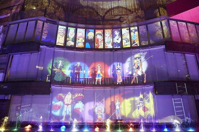 「ONE PIECE WATER SPECTACLE」の様子